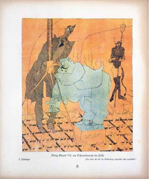 König Eduard VII am Scherenfernrohr der Hölle