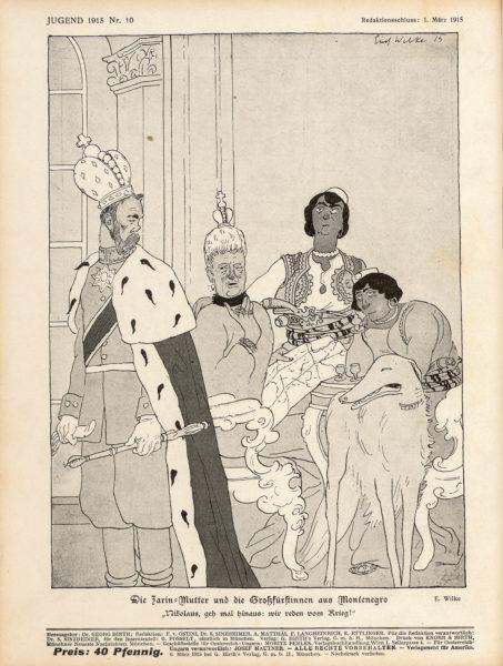Die Zarin-Mutter und die Großfürstinnen aus Montenegro