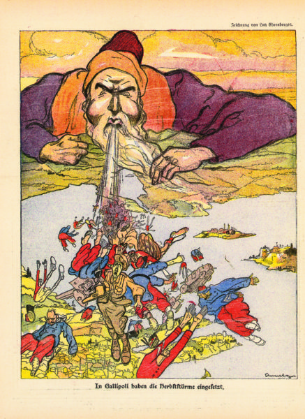 In Gallipoli haben die Herbststürme eingesetzt